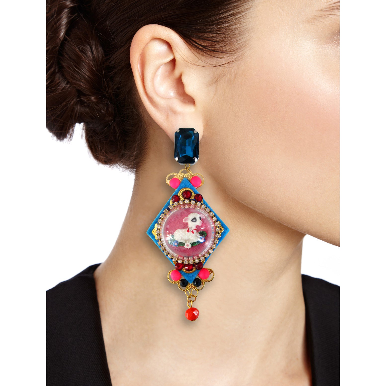 mouchkine jewelry paris couture luxury pendant earrings
