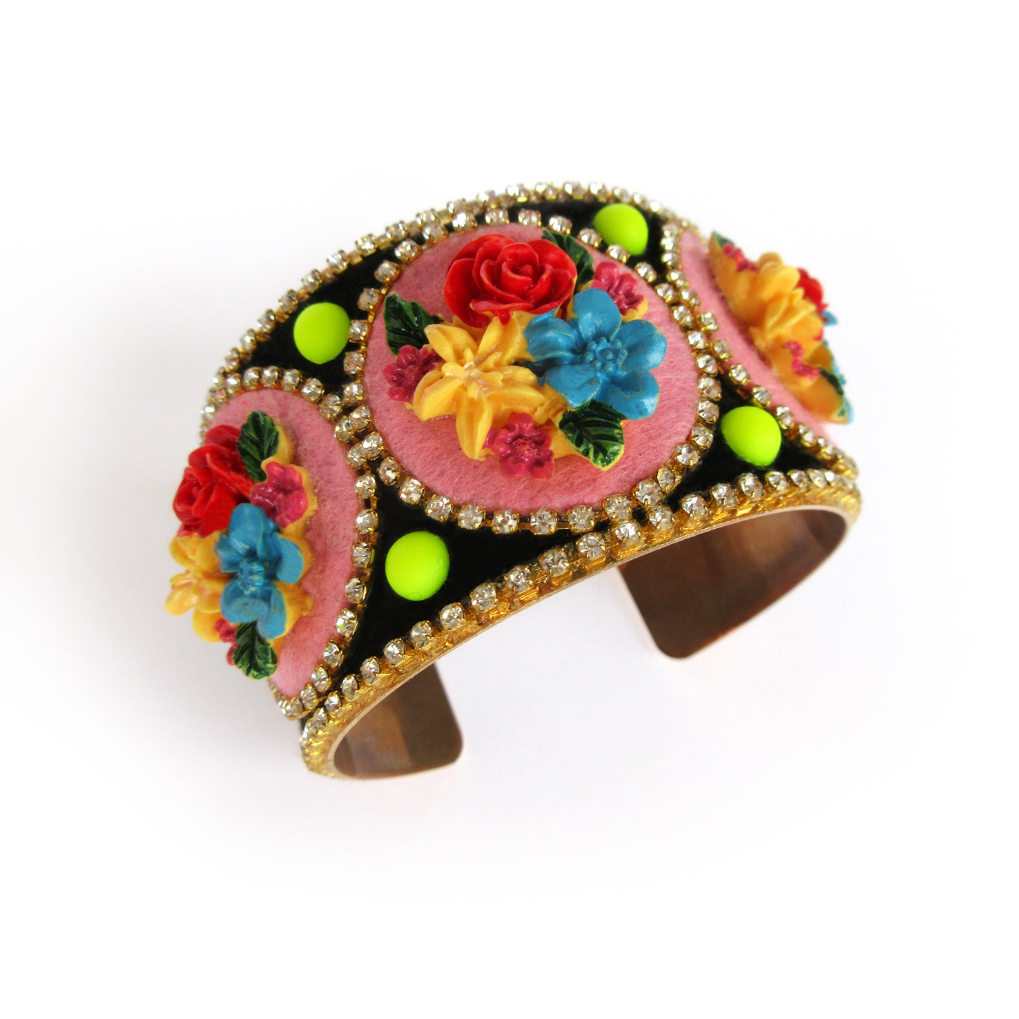 Mouchkine Jewelry handmade in france luxury floral Bracelet bangle