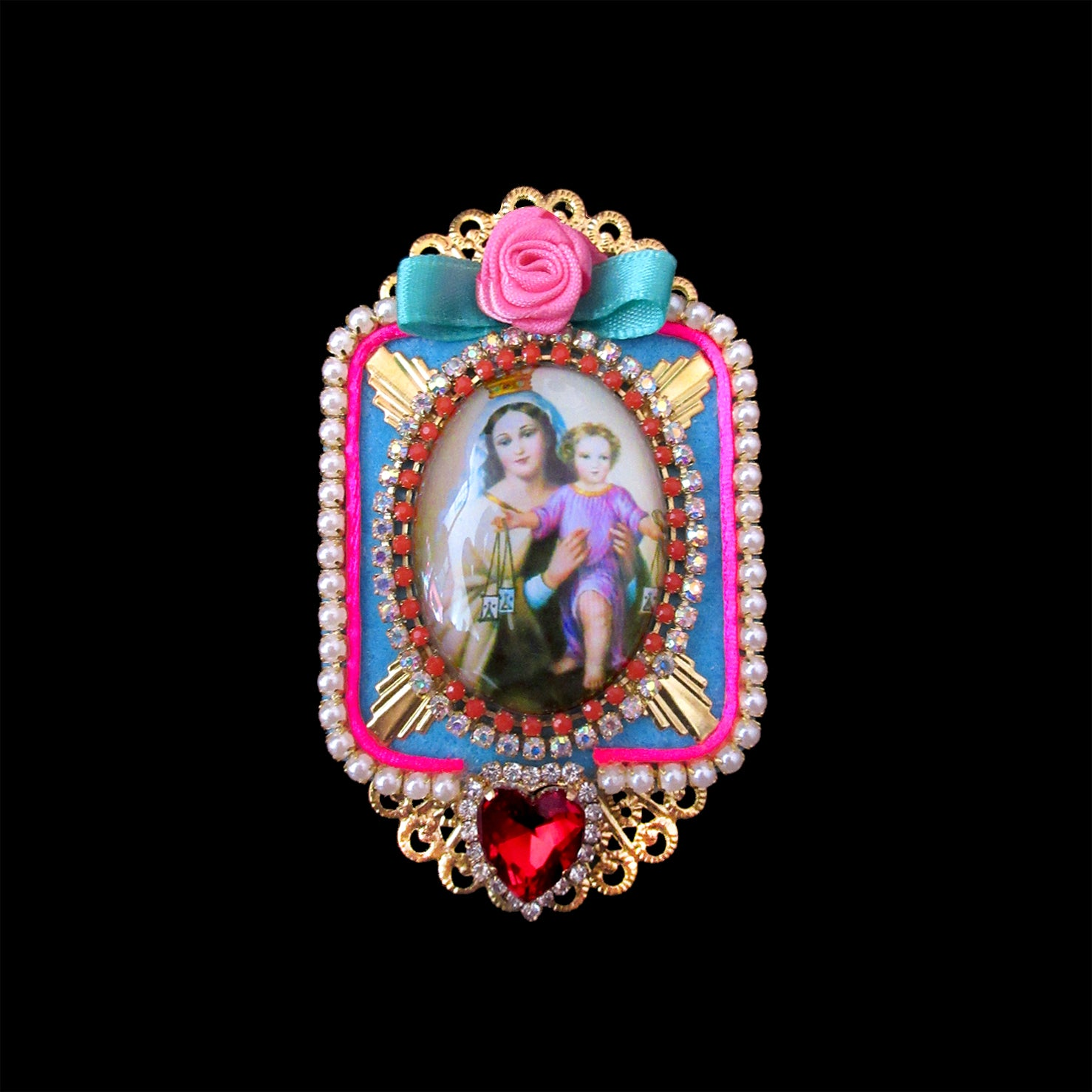 mouchkine jewelry baroque and elegant madonna brooch