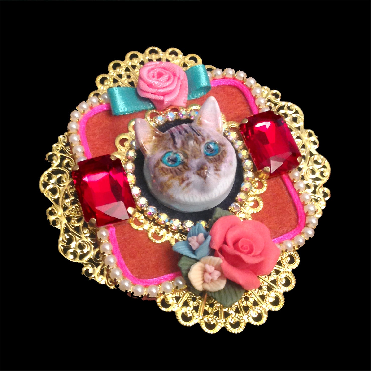 mouchkine jewelry vintage cat brooch chic made in France