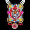 mouchkine jewelry handmade coutue luxury tiger necklace.