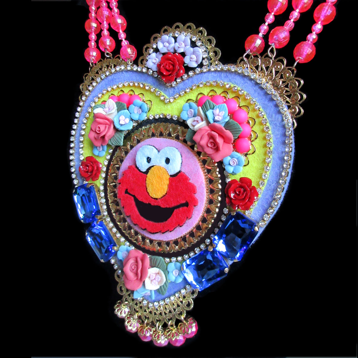 Mouchkine Jewelry made in france couture pop Elmo Necklace