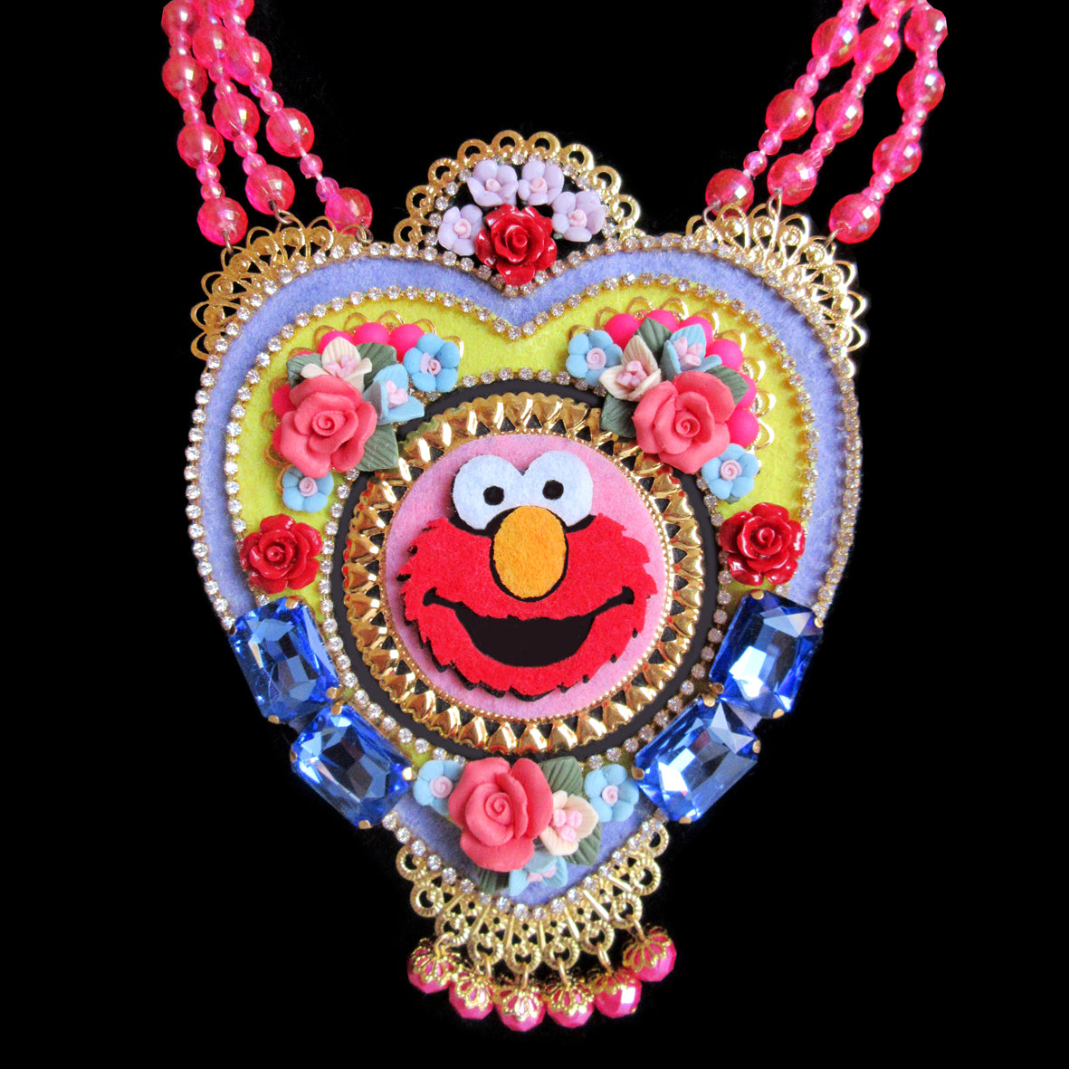 Mouchkine Jewelry handmade in france luxury pop culture Elmo Necklace