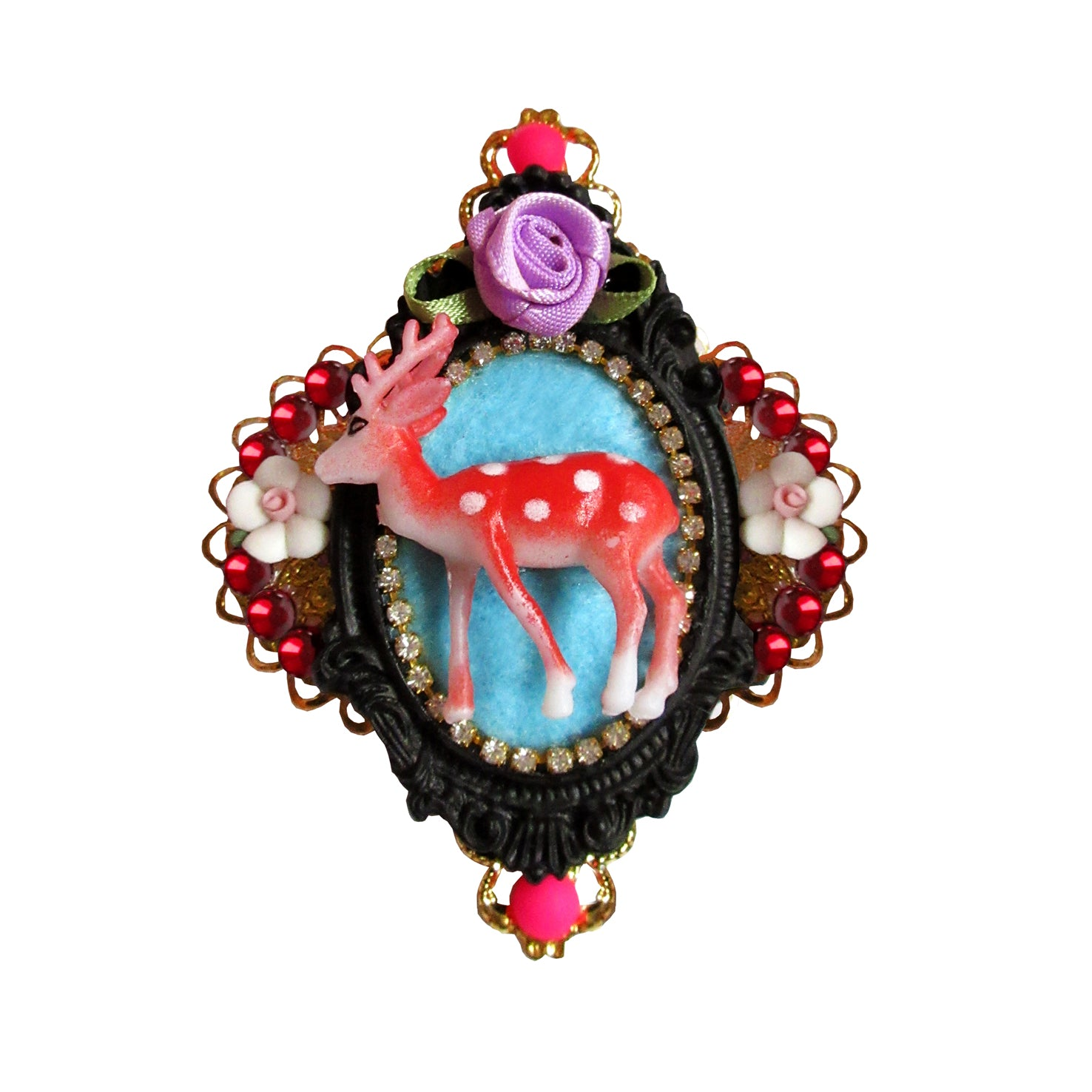 mouchkine jewelry luxury bambi brooch, a haute couture jewel handmade in france