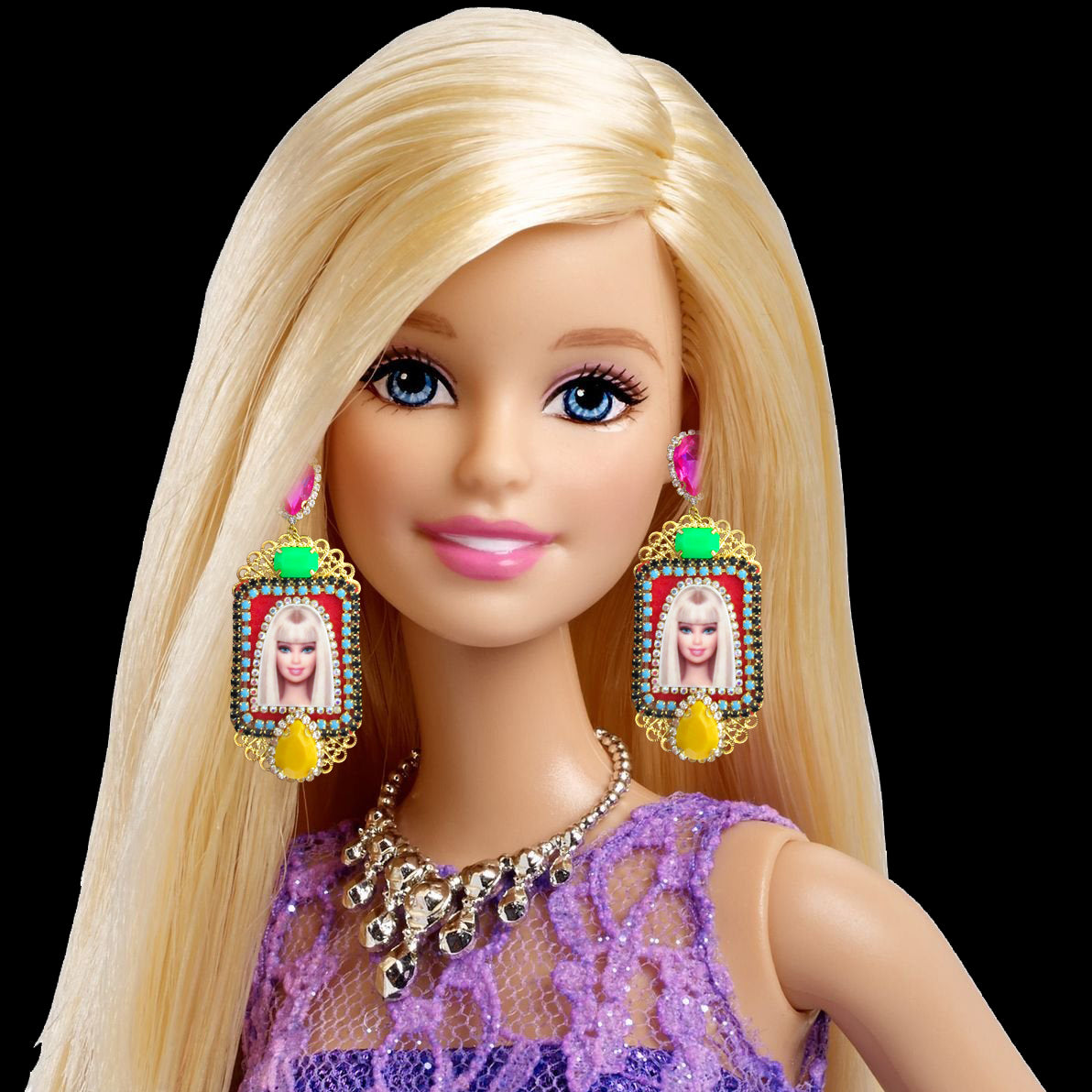 Mouchkine Jewelry Barbie chic and glamour earrings. Entirely handmade & made in France