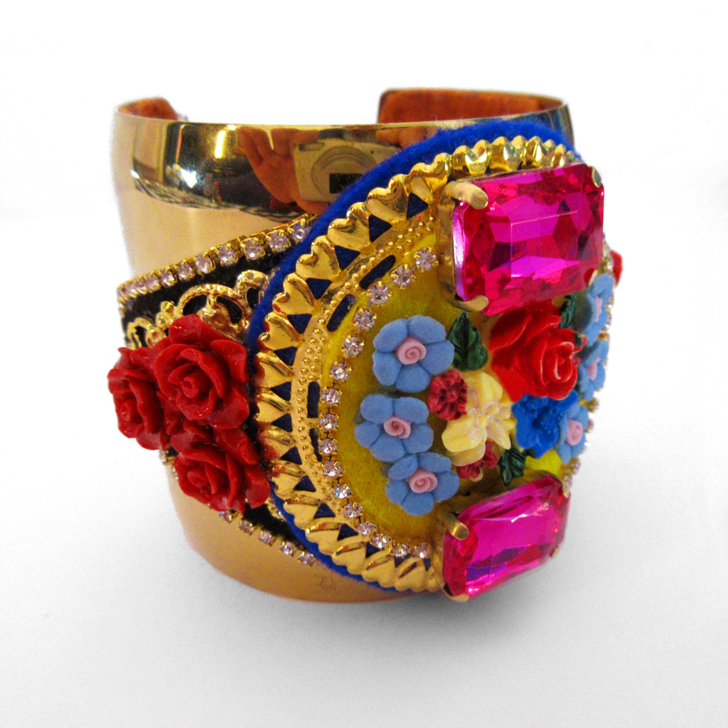 Mouchkine Jewelry made in france couture floral bangle Bracelet