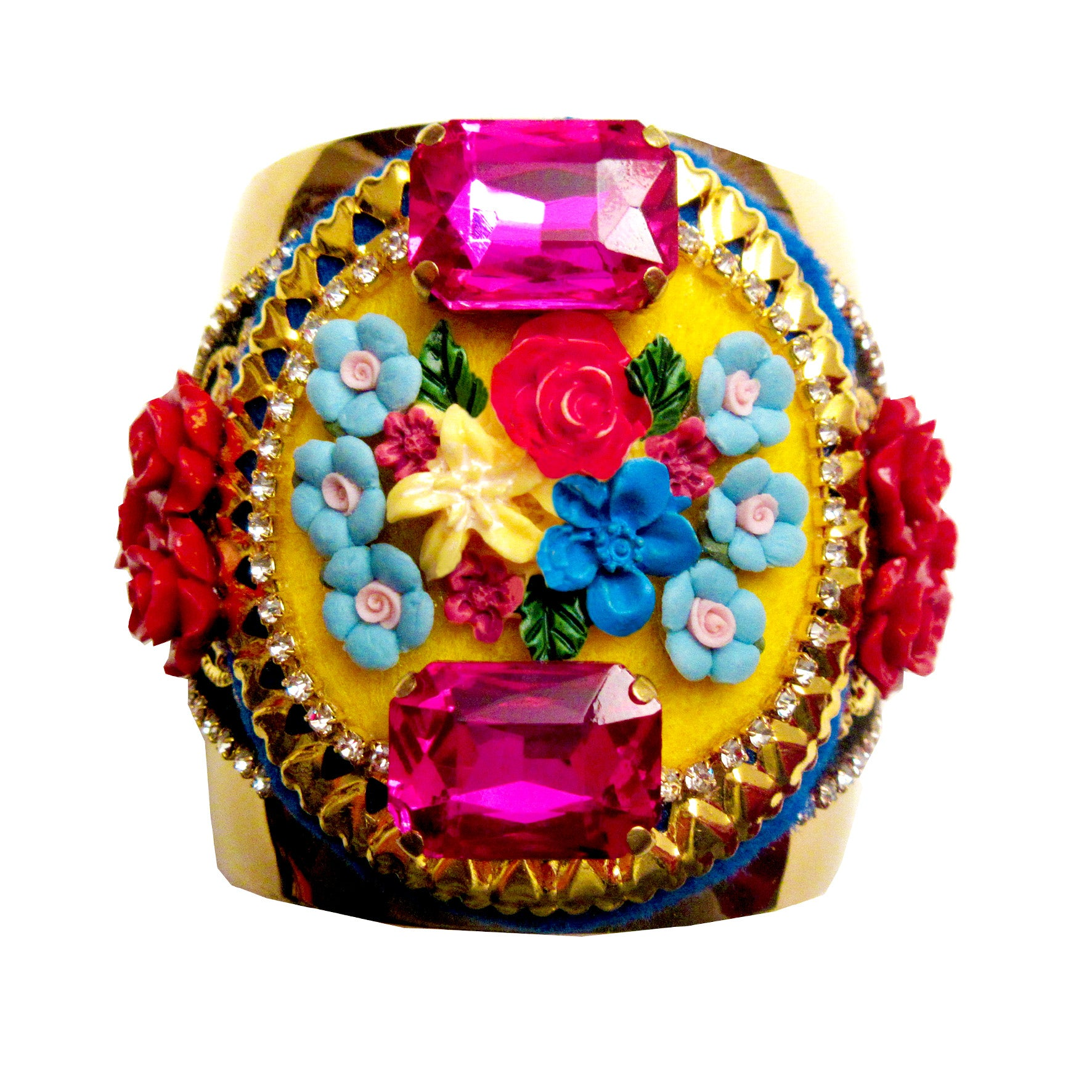Mouchkine Jewelry handmade in france luxury floral bangle Bracelet