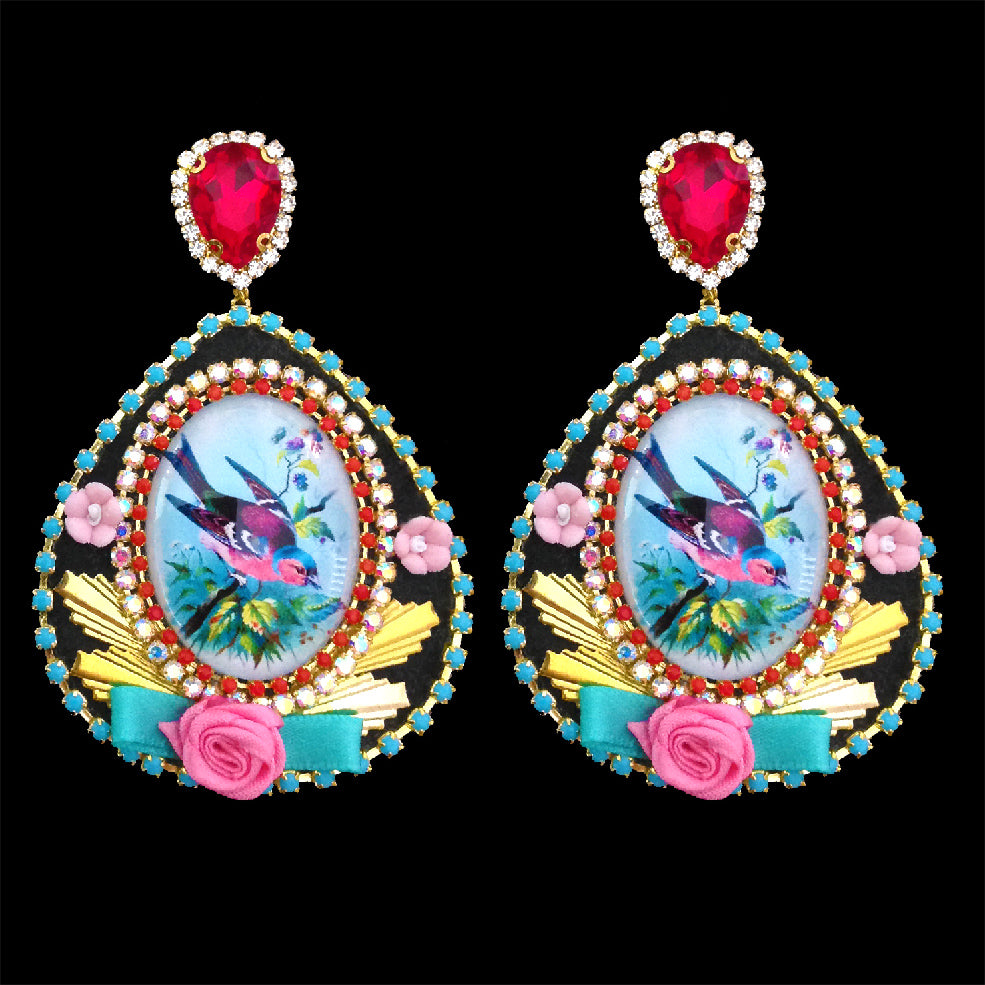 mouchkine jewelry made in france haute couture birds earrings chic and colorful