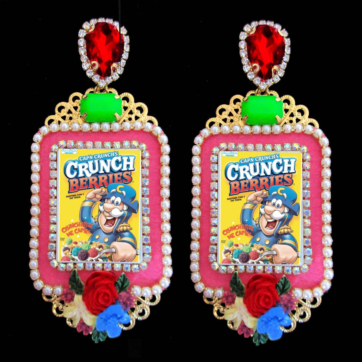 mouchkine jewelry pop culture chic and trendy 80's earrings, made in france.