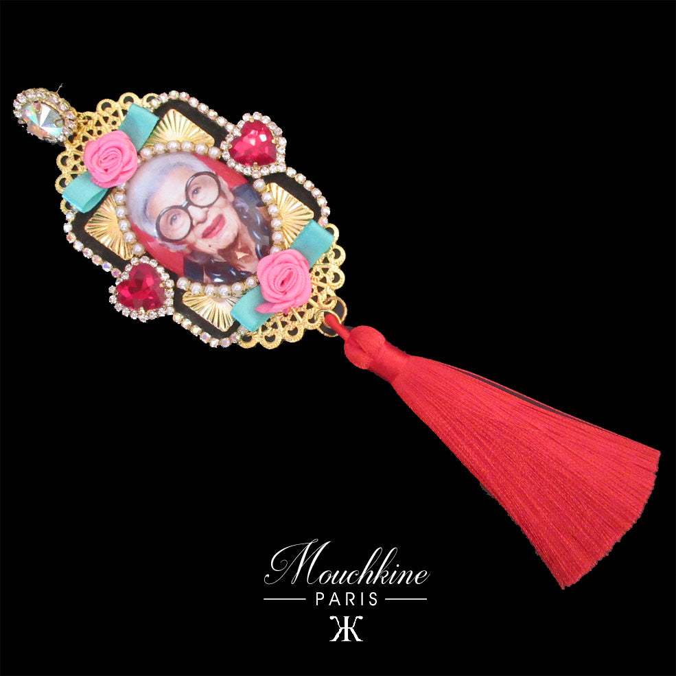 mouchkine jewelry handmade in france luxury unique pieces irisapfel pendant earrings