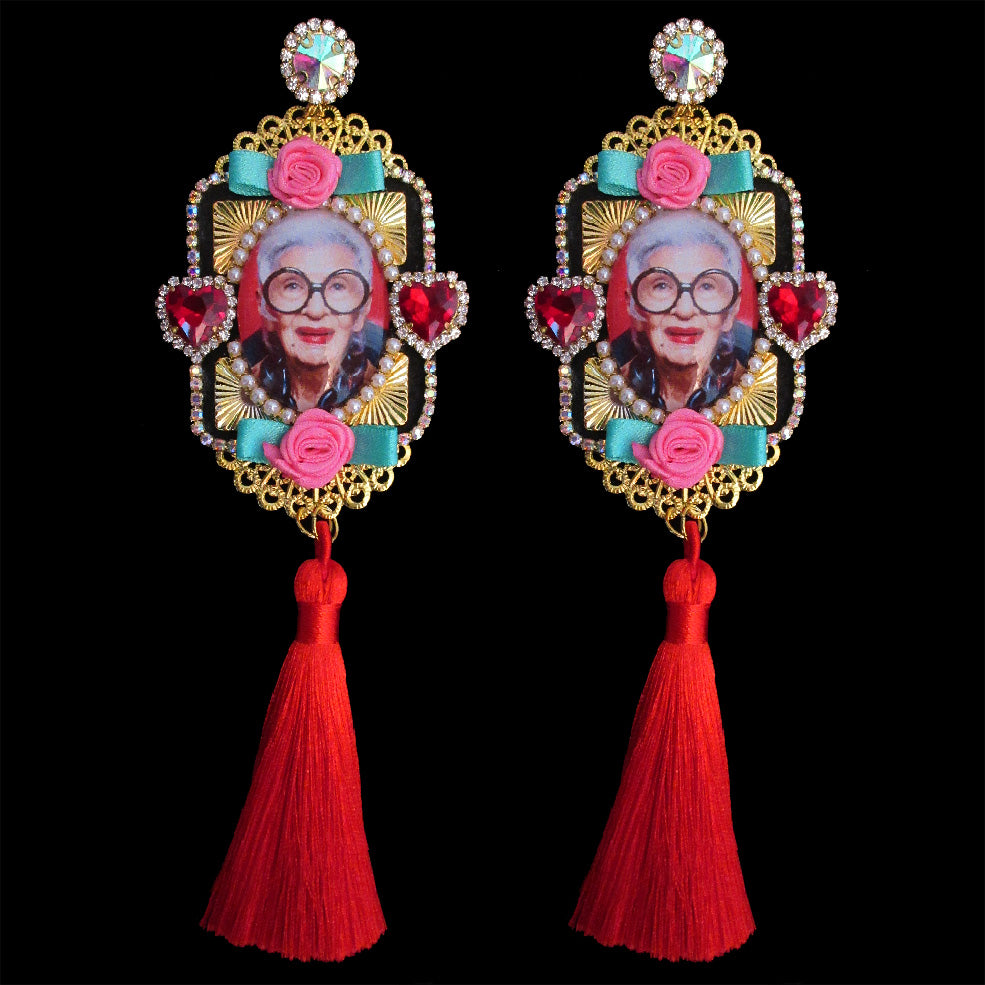 mouchkine jewelry handmade in france couture unique pieces irisapfel statement earrings