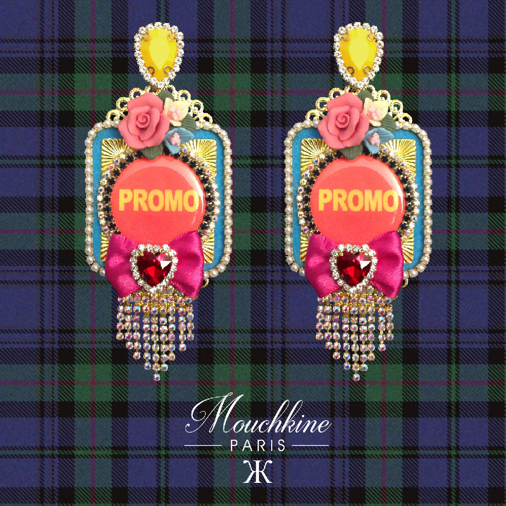 mouchkine jewelry pop culture statement earrings chic and trendy