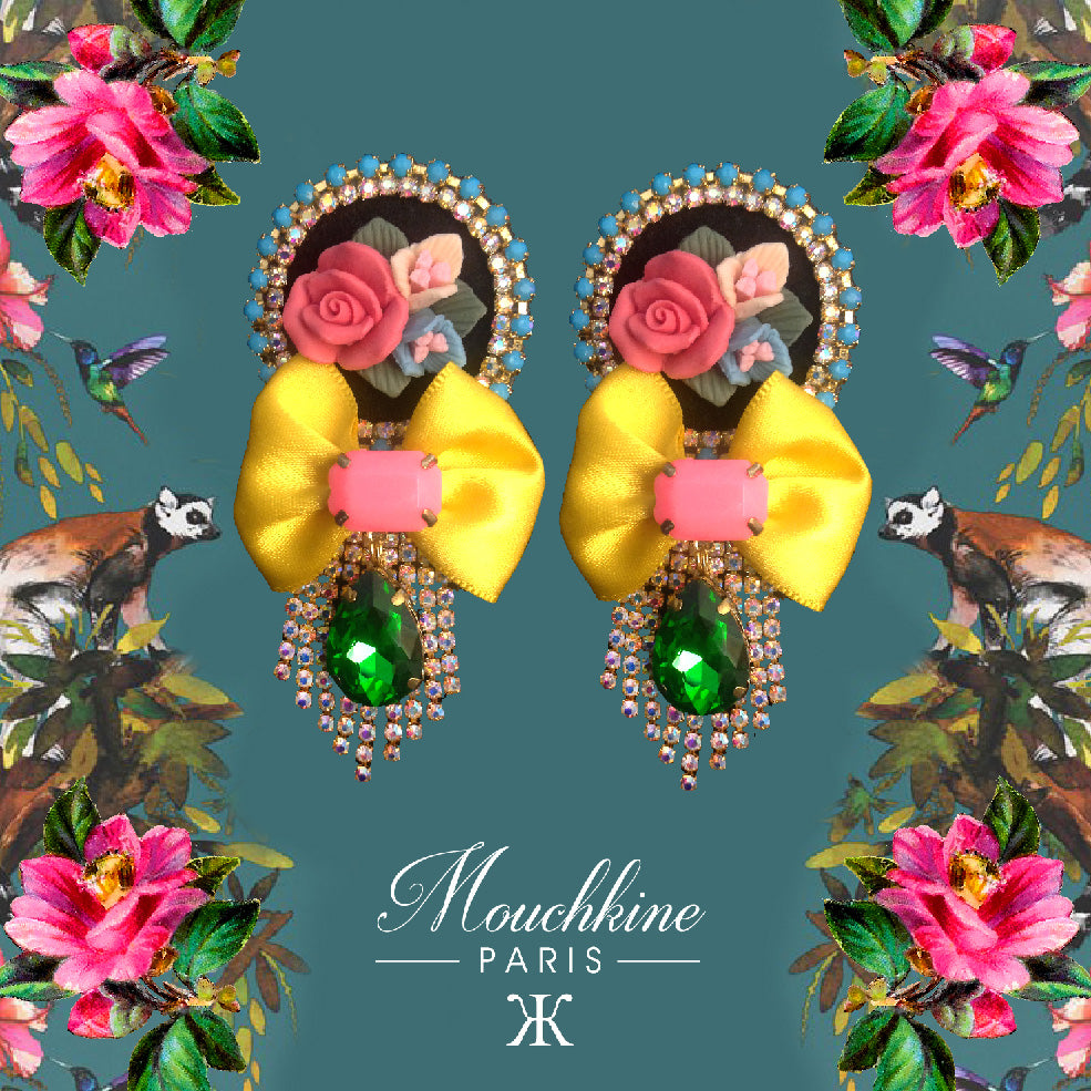 mouchkine jewelry statement chic and elegant floral earrings