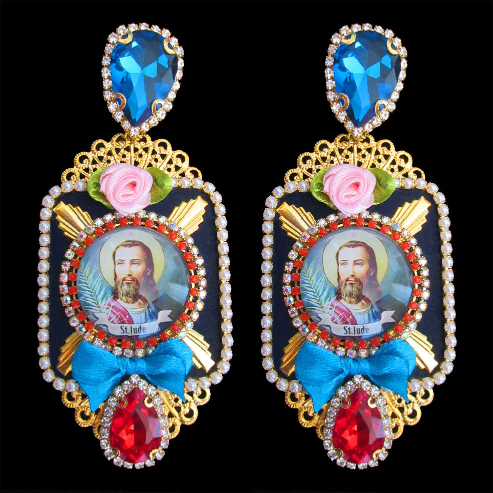 mouchkine jewelry handmade unique pieces pendant religious earrings