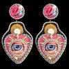 mouchkine jewelry couture handmade eye iconic earrings with flowers