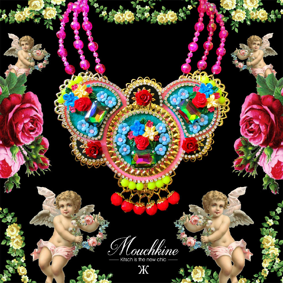 Mouchkine Jewelry made in france luxury floral Necklace