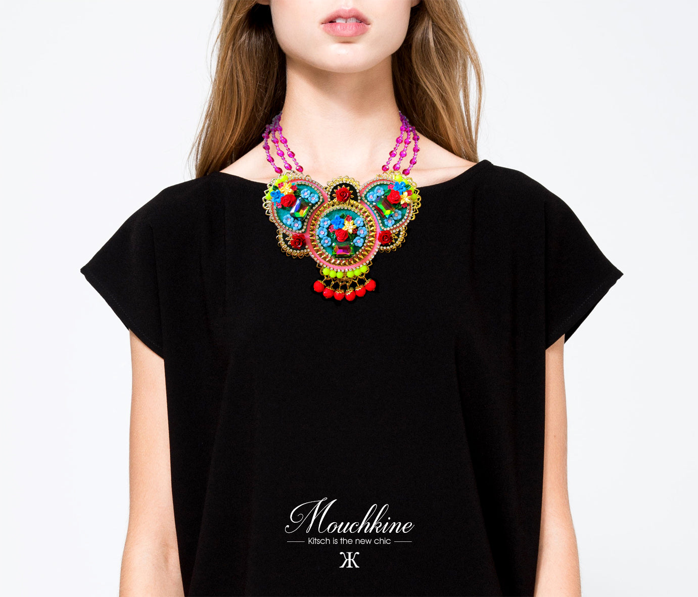Mouchkine Jewelry paris haute couture amazing floral Necklace