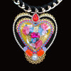 mouchkine jewelry couture handmade necklace with a glass heart shape