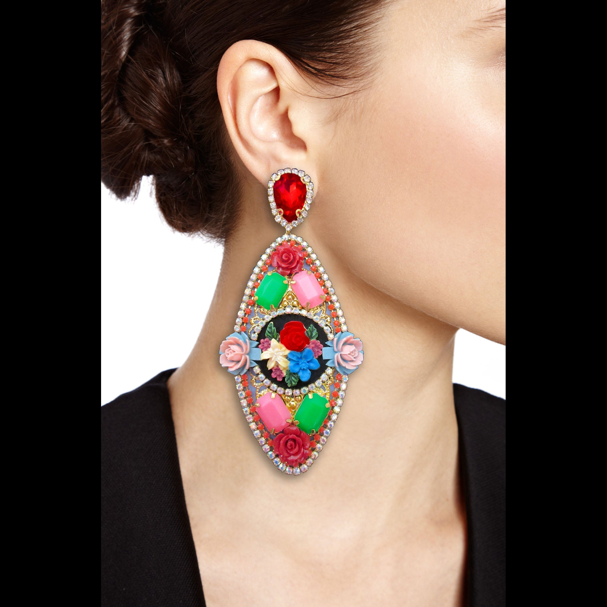 ine Jewelry haute couture earrings. Ultra chic and trendy couture jewel made in france.