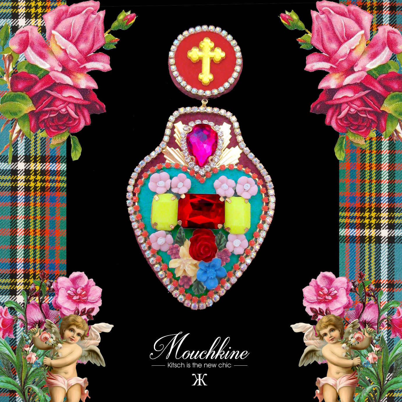 mouchkine jewelry earrings chic and trendy made in france couture stylish accessory