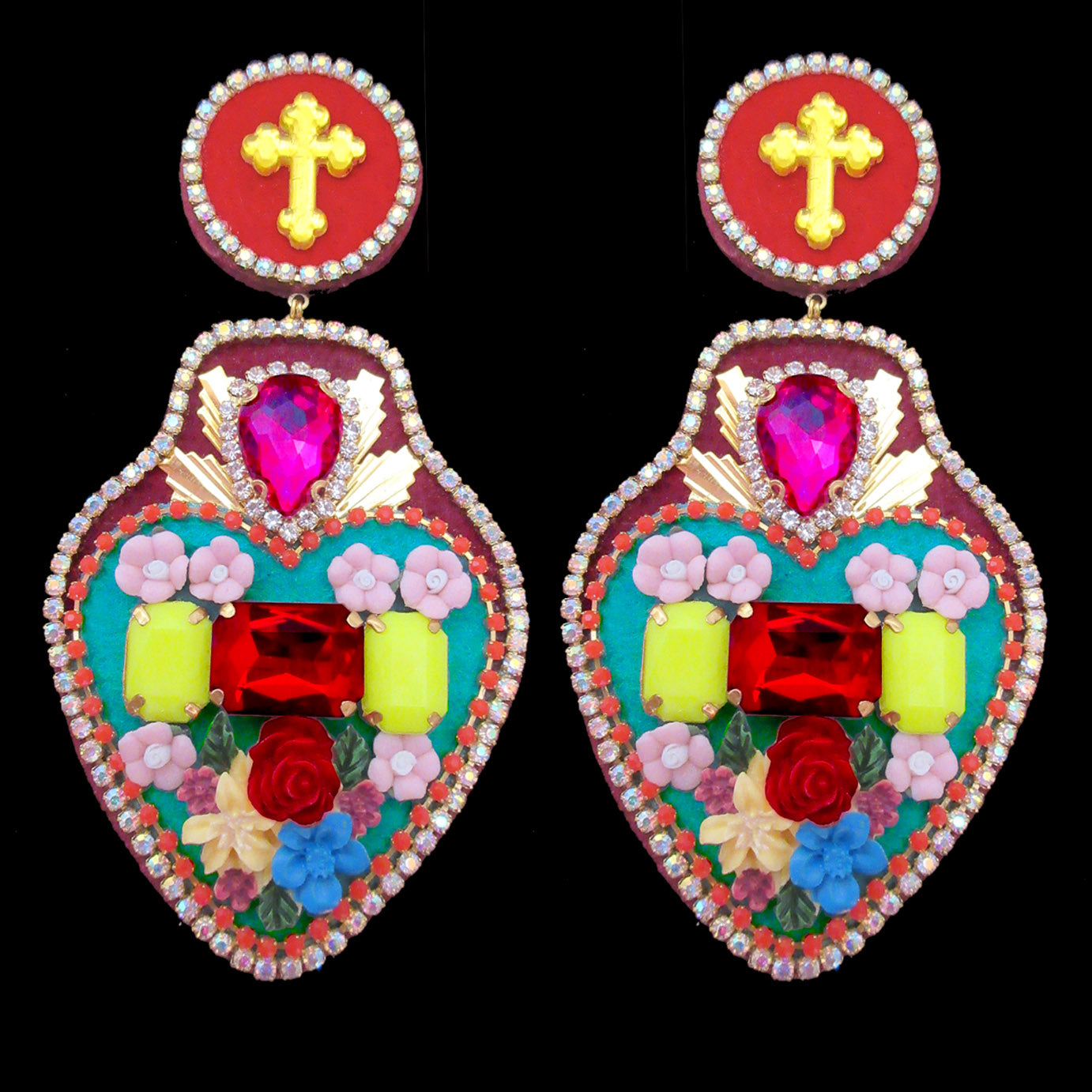 mouchkine jewelry handmade luxury exvoto statement earrings