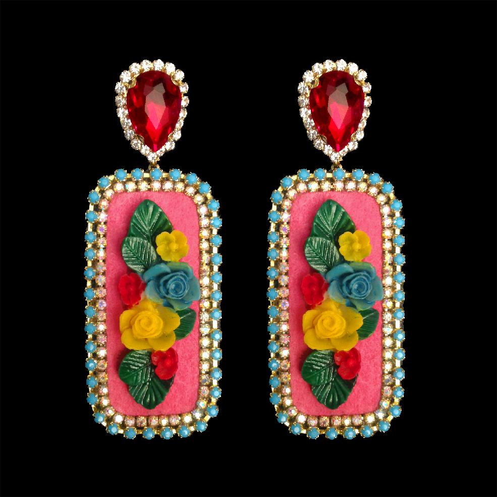mouchkine jewelry floral baroque chic and trendy handmade in france earrings
