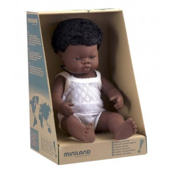 Anatomically Correct African Baby Boy 38cm