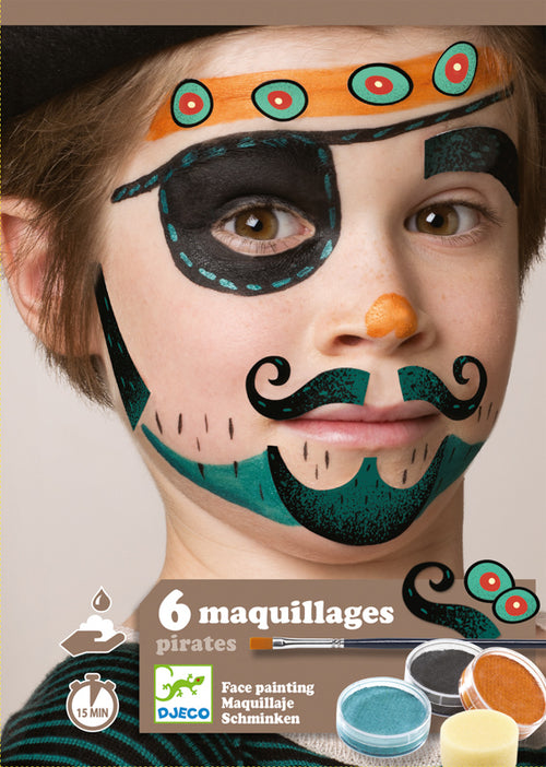 Pirates Face painting set