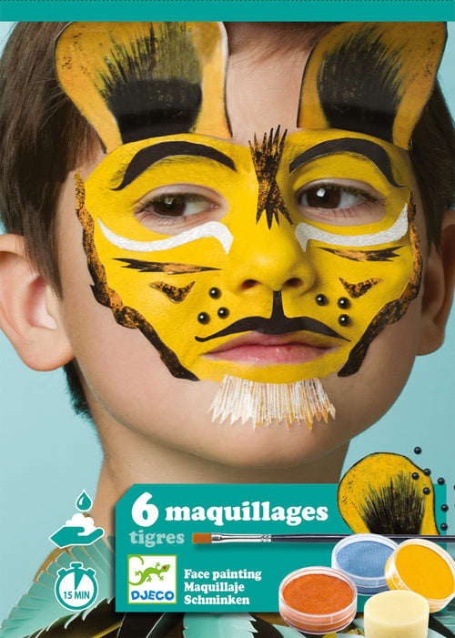 Tiger face paint set