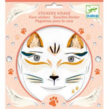Cat face stickers