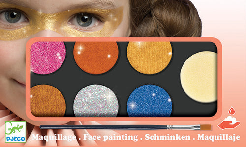 Metallic Face paint /Body Art palette 6 colours