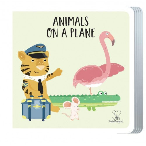 Travel  Puzzle - Animals On a Plane Book + Giant puzzle
