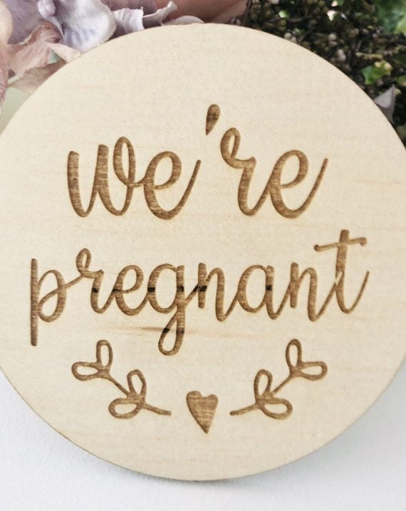 WE'RE PREGNANT | Announcement Disc