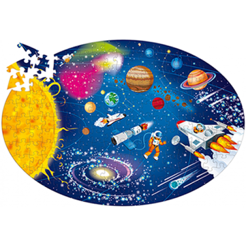 Travel, Learn & Explore Space The Solar System  Puzzle + Book
