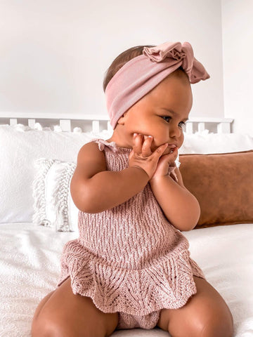 Mila Romper Dusty Rose