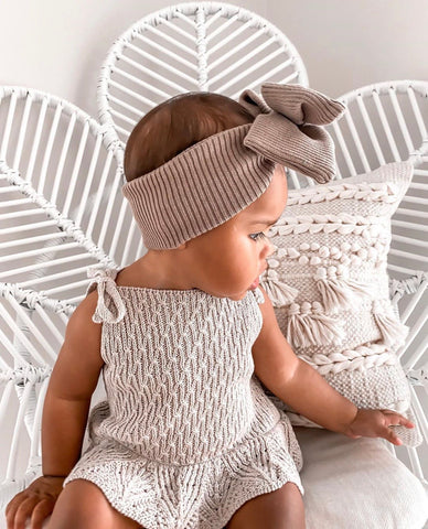 Mila Romper Latte/Grey