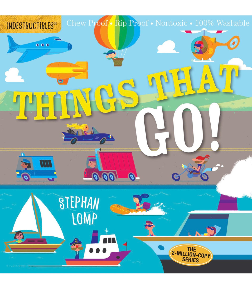 Indestructibles Book - Things That Go!