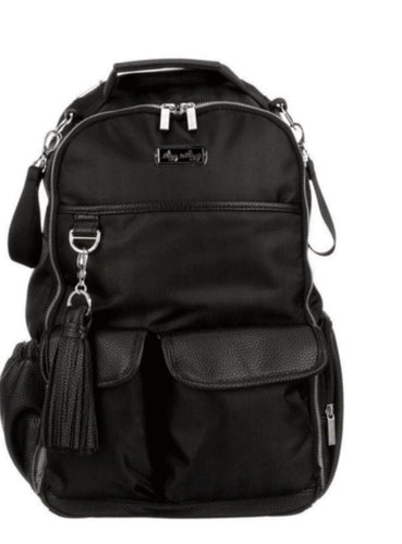 Boss Backpack Diaper Bag - Black Herringbone