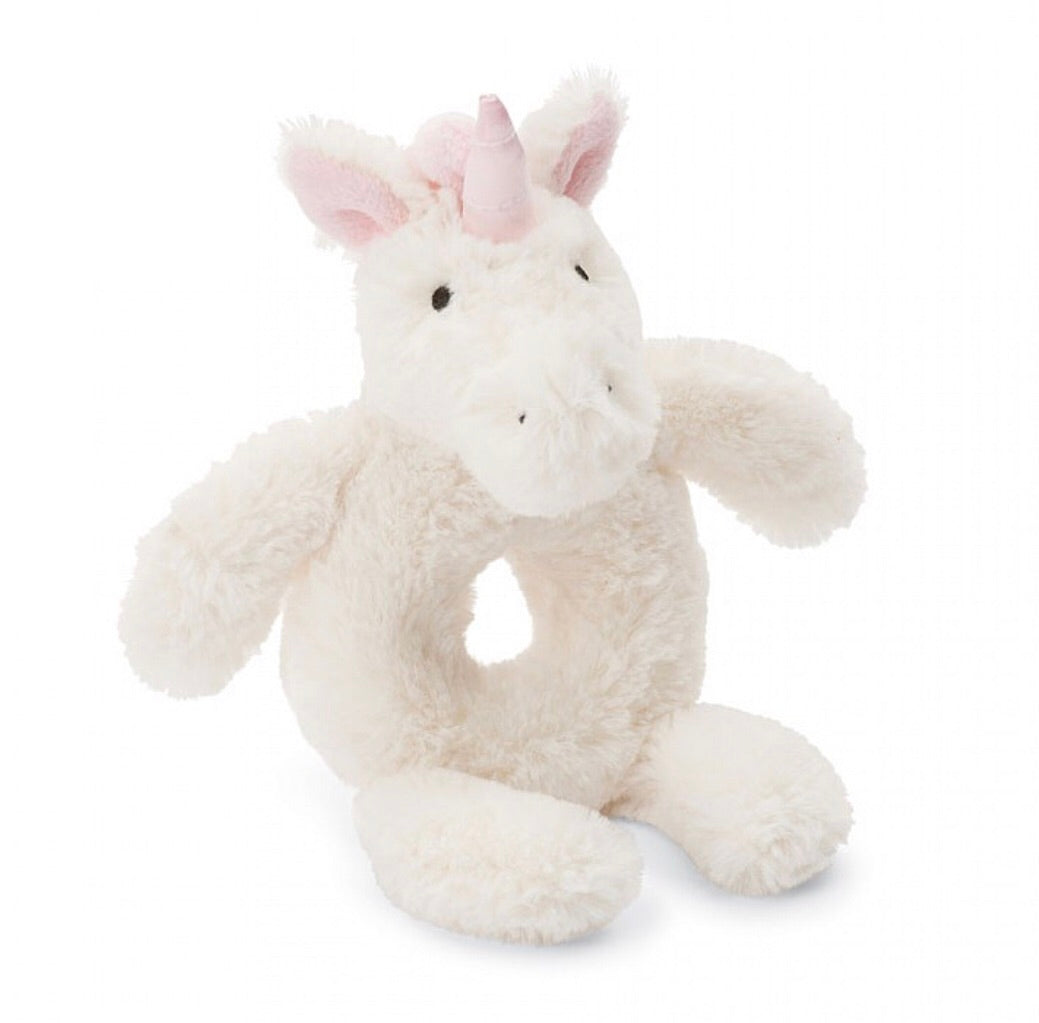 Bashful Unicorn Ring Rattle - Jellycat