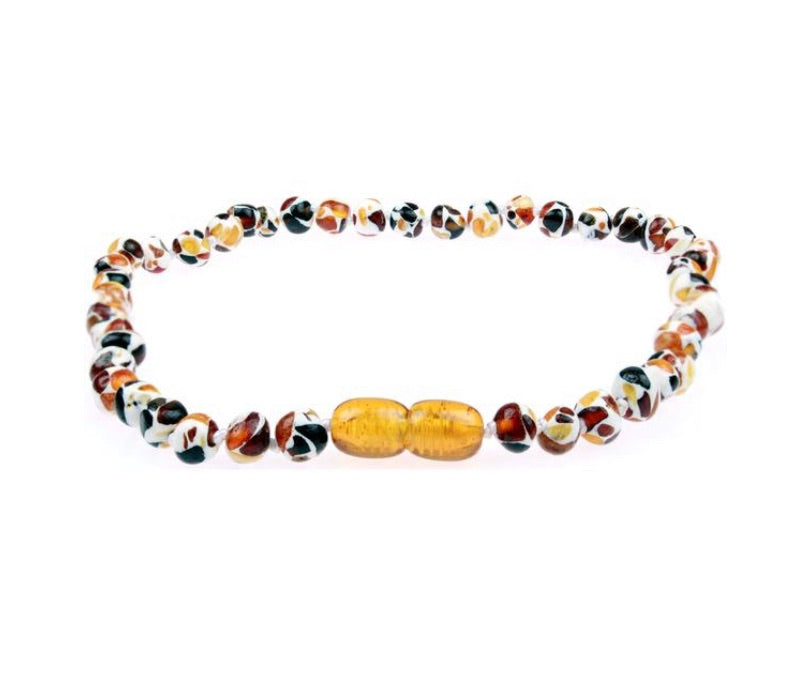 Amber Teething Necklace - Mosaic Baltic Amber