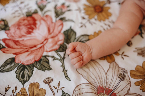 Crib Sheet - White Garden Floral