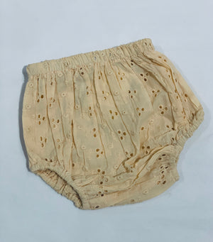 Diaper Cover - Peach Eyelet