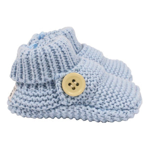 Knitted Booties - Blue