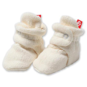 Cozie Fleece Baby Booties - Cream