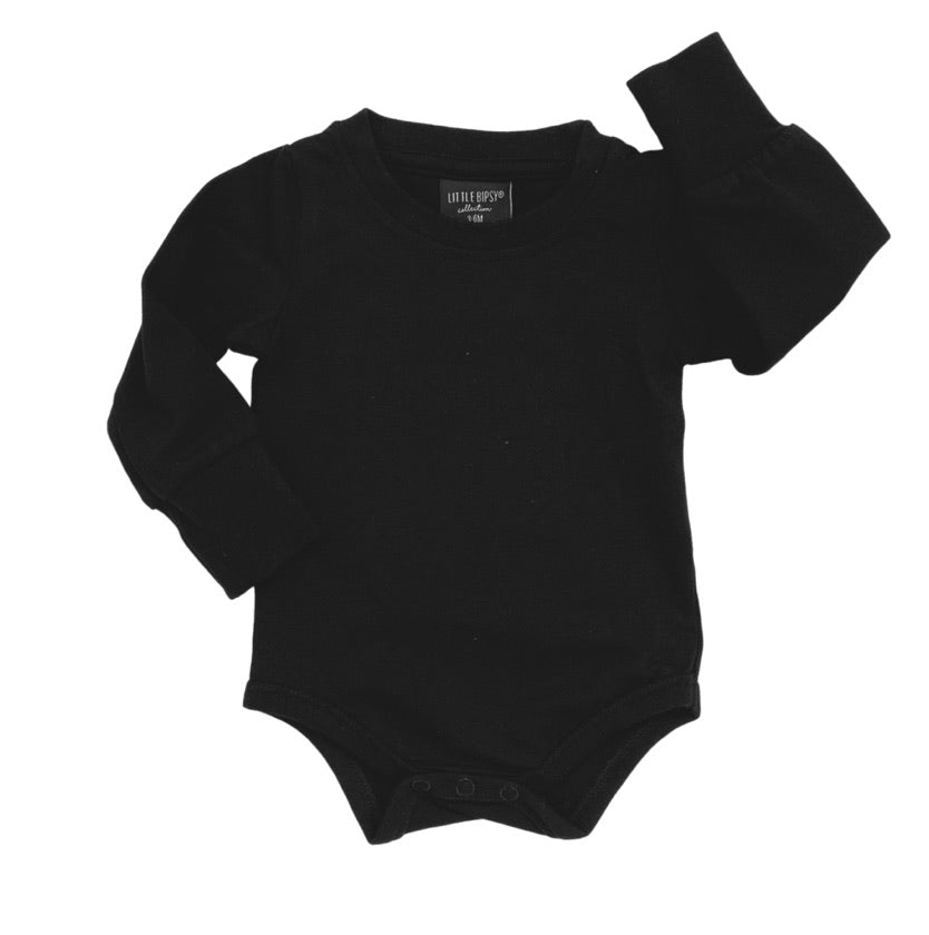 Little Bipsy Long Sleeve Onepiece - Black