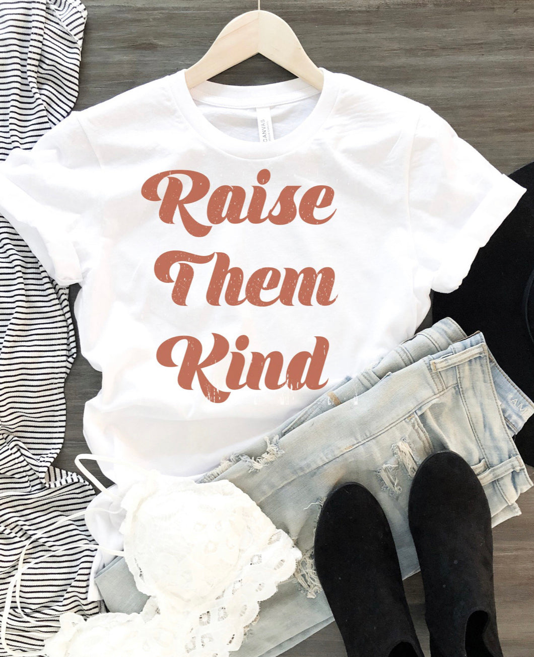 Raise them Kind Tee - White