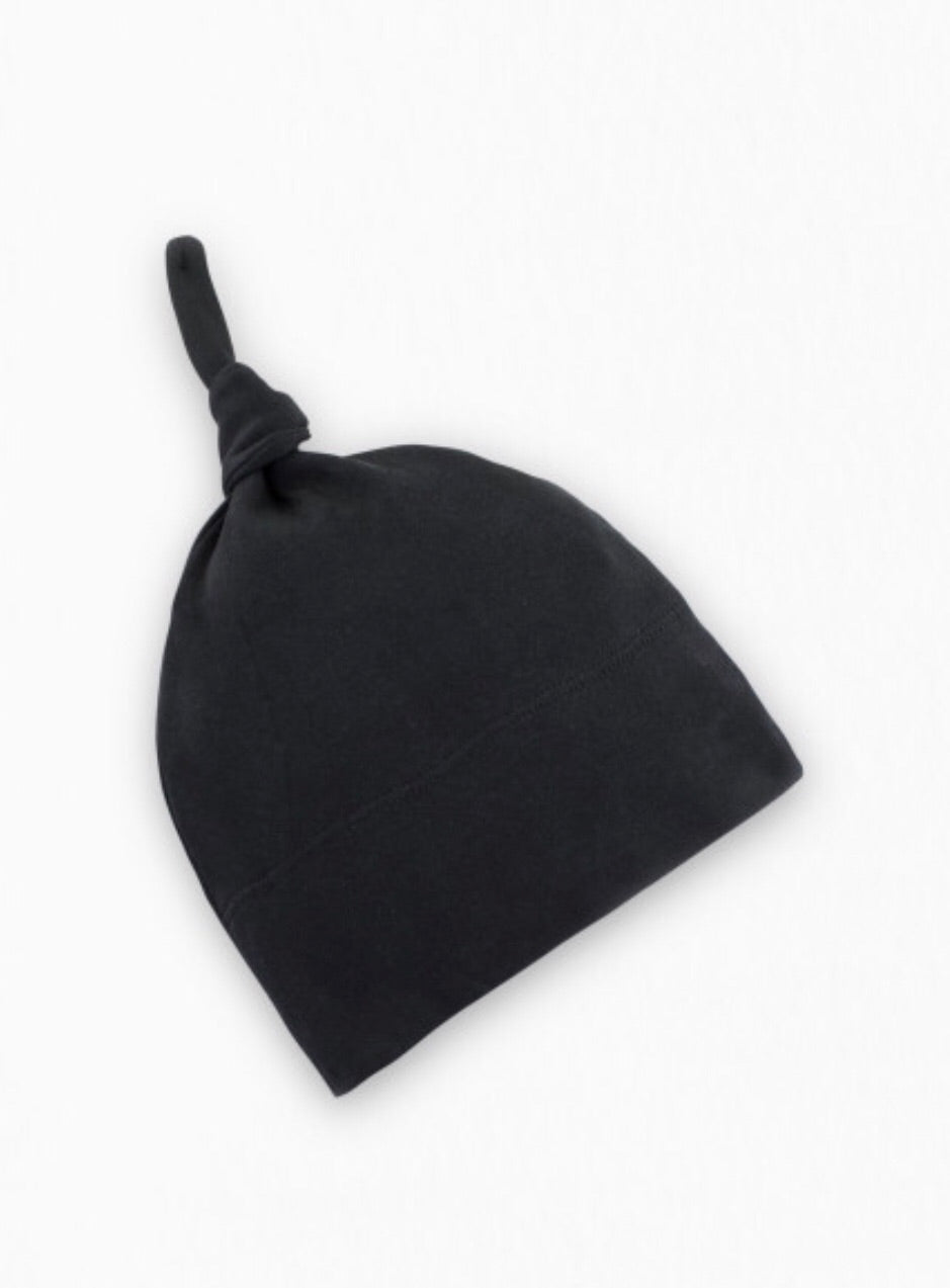 Organic Classic Knotted Hat - Black
