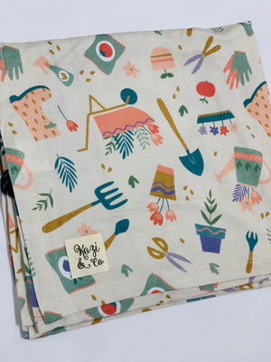 Single Layer Bamboo Swaddle - Peony Tool