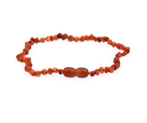 Amber Teething Necklace - Raw Unpolished Cognac Baltic Amber