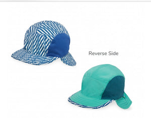 Infant Sun Flap Cap - Blue Electric